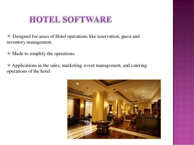 uses of computer in catering industry