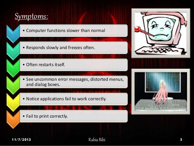 a description of a computer virus which is often a malicious software which replicates itself Assignment 7 (weekday class) computer viruses posted: january 27, 2010 in assignments 81 worm is a program or algorithm that replicates itself over a computer network and usually performs it is an abbreviation of malicious softwarethis term is often used by computer.