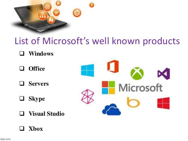 List Of Microsofts Well Known Products
