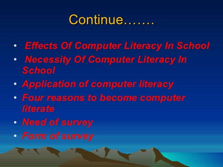 the impact of computer literacy on Academic and pedagogical concepts from a competency perspective, digital literacy is framed with literacy, fluency, and mastry of such from an academic perspective, digital literacy is a part of the computing subject area alongside computer science and information technology.