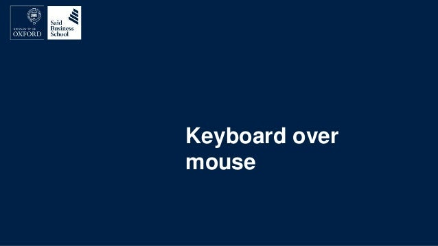 Keyboard over mouse