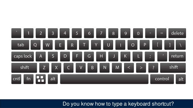 Do you know how to type a keyboard shortcut?