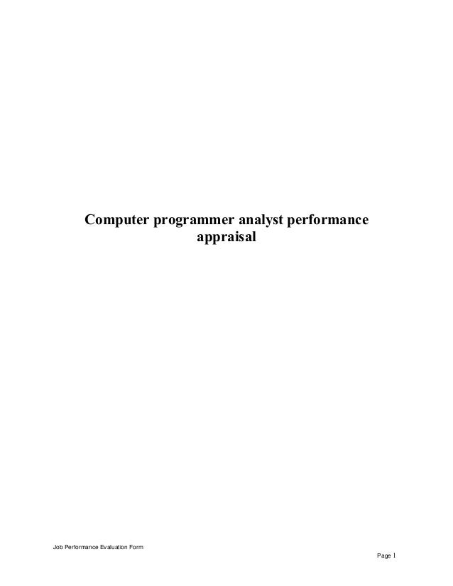 computerprogrammeranalystperformanceappraisal1638jpgcb 1432533244 – Programmer Analyst Job Description
