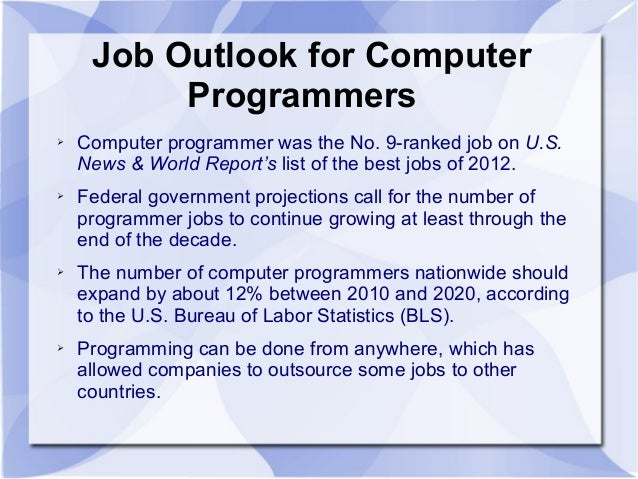 Incroyable Job Outlook For Computer Programmers ...