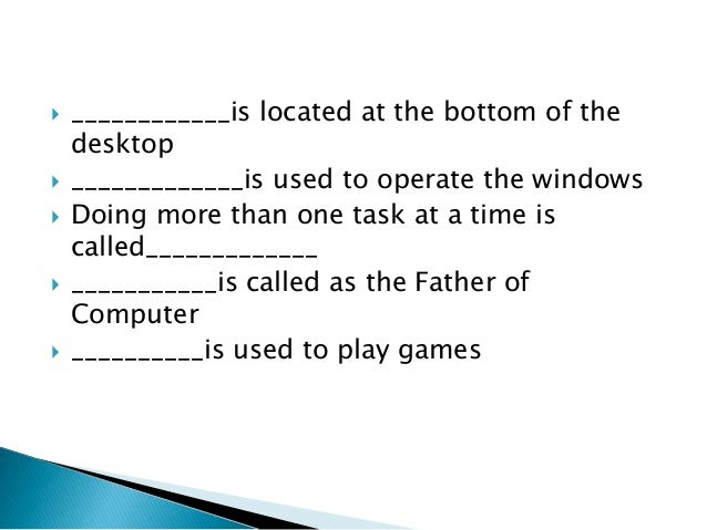 computer quiz for primary classes