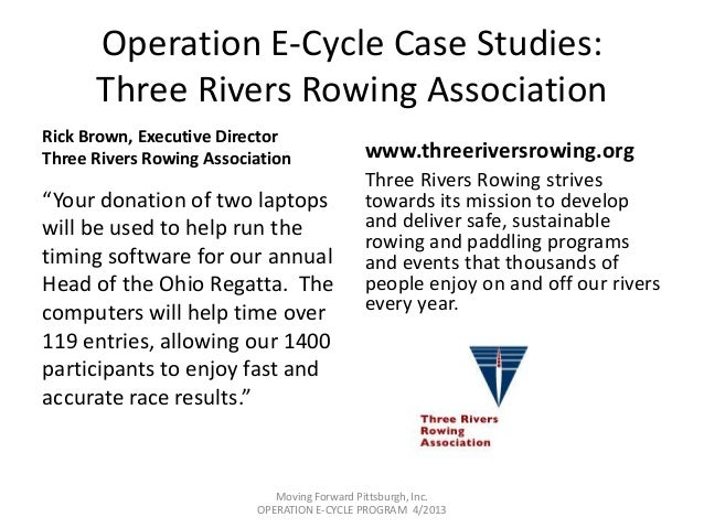 moving forward pittsburgh e cycle computer re use program