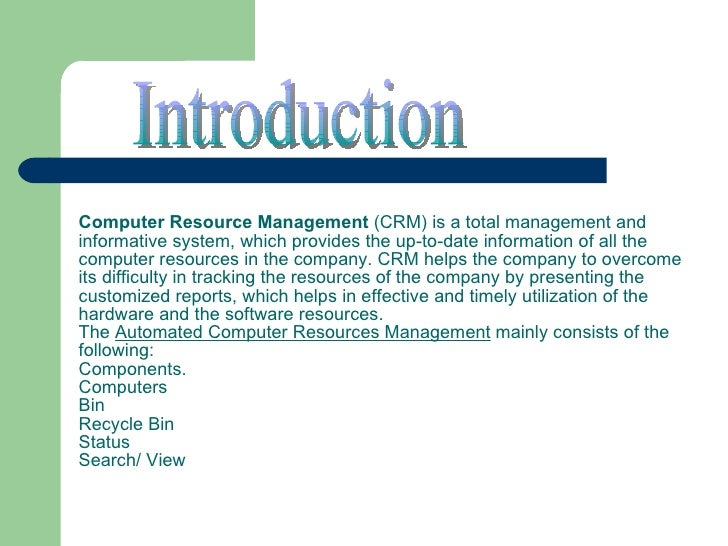 computer resource management system