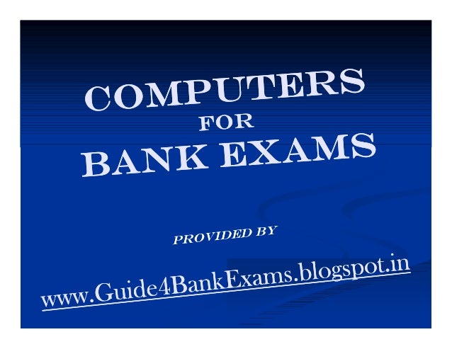 The History of the Computer Then  &  Now  For more materials of Bank Exams visit us at www.Guide4BankExams.blogspot.in/