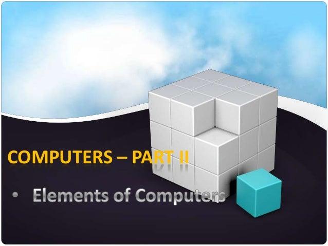 COMPUTERS – PART II