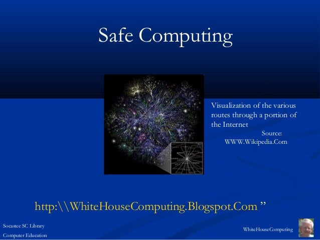 Socastee SC LibraryComputer EducationWhiteHouseComputingSafe ComputingVisualization of the variousroutes through a portion...