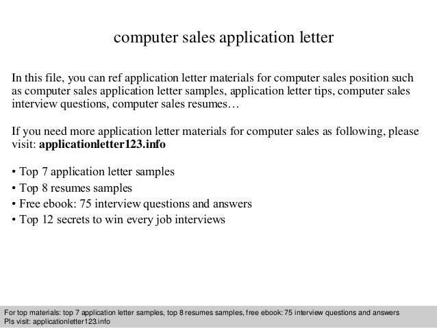 sales letters samples