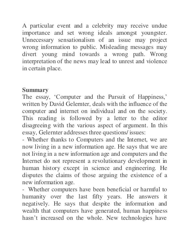 the pursuit of happiness 2 essay The pursuit of happiness what's happiness a feeling a state why is it so hard to define is it because no one is really happy  from what i know, we're happy when we have what we are looking for, according to that, happiness can be defined as a feeling of satisfaction that appears once we achieve a goal, and as humans are by.