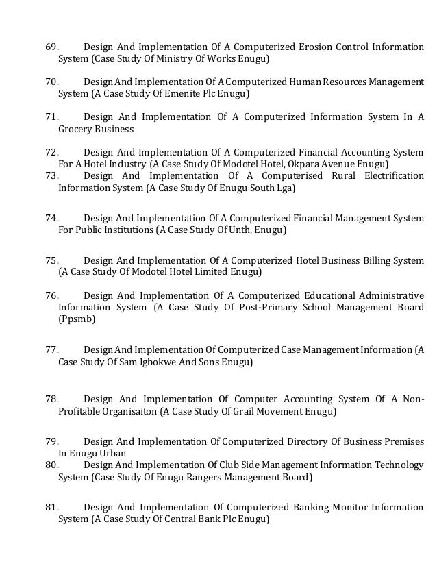 management science project topics