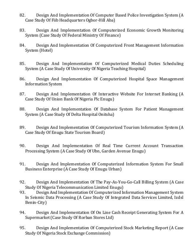Original   case study topics for engineering