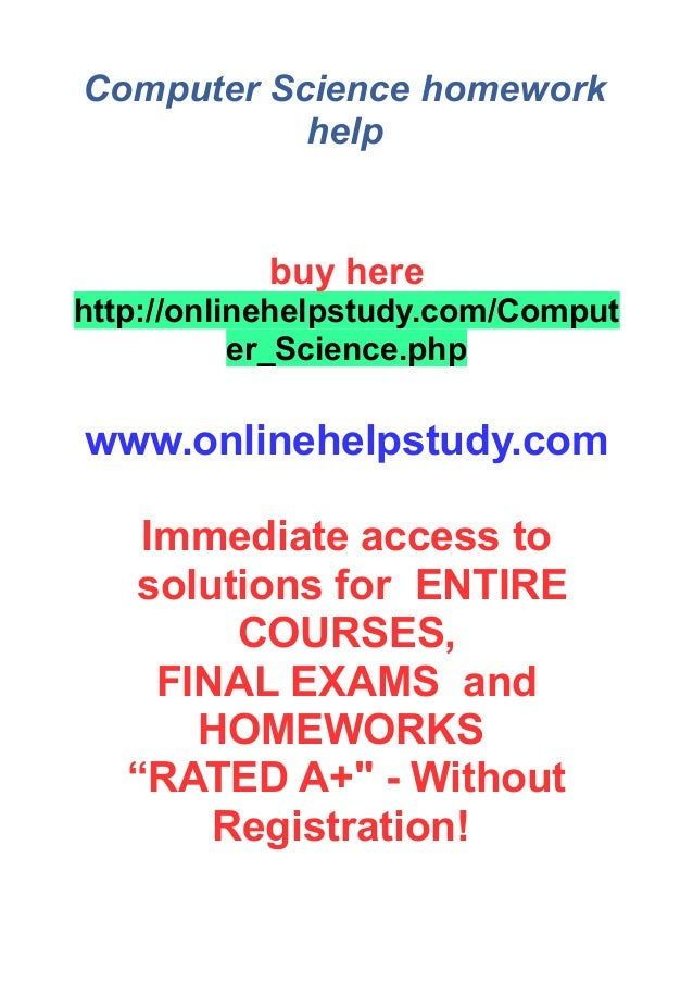 Computer Science Assignment Help from Top Experts - 24*7 Live Chat