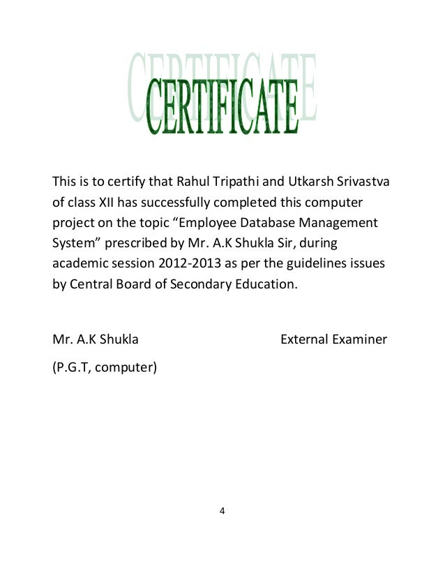 School project certificate format fieldstation school project certificate format yadclub Images