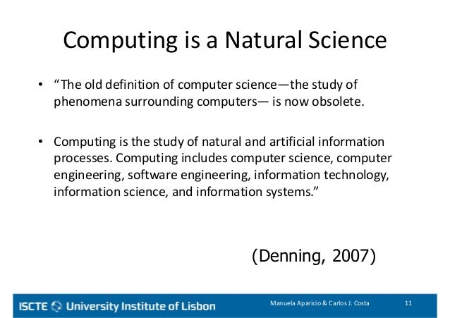 definition and description of computer science