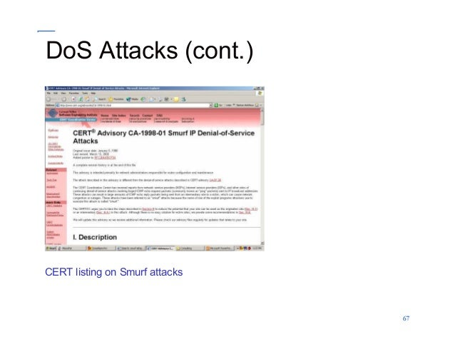 Computer Security Cyber Security DOS_DDOS Attacks By: Professor Lili …