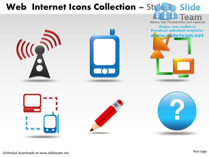 Computer Security Web Internet Icons Power Point Slides