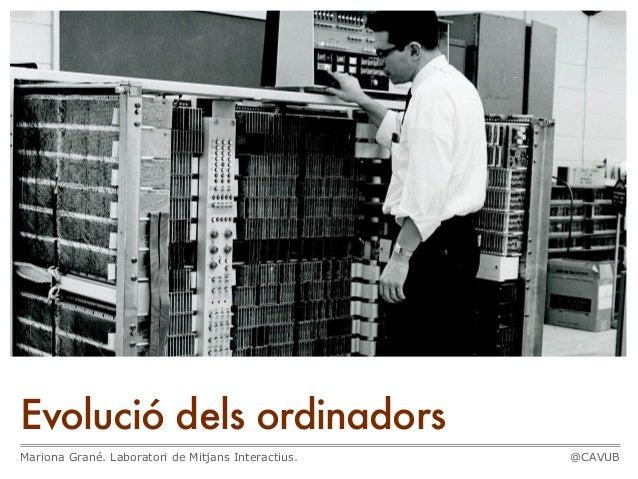 Evolució dels ordinadorsMariona Grané. Laboratori de Mitjans Interactius.   @CAVUB