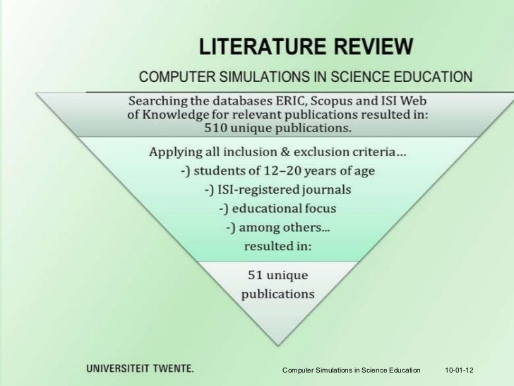 review of related literature about educational technology There is a growing consensus among educators and the general public that technology should play a more integral role in students' education however, the question of whether the introduction.