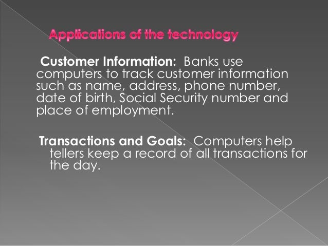 essay on uses of computer in banks