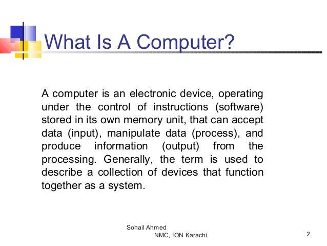 Computer skills by sohail ahmed Slide 2