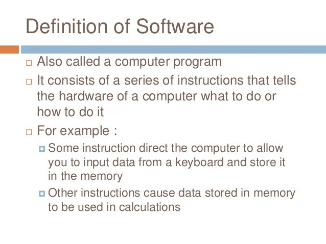 Computer software programs.