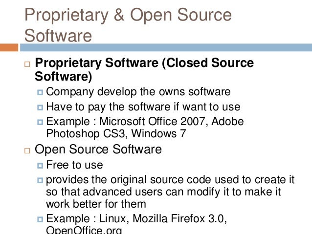 Computer Software Form 4: open source programs
