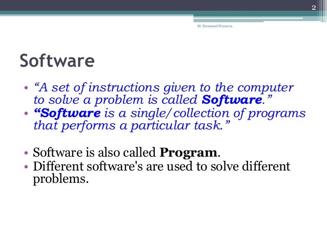 Computer Software & its Types