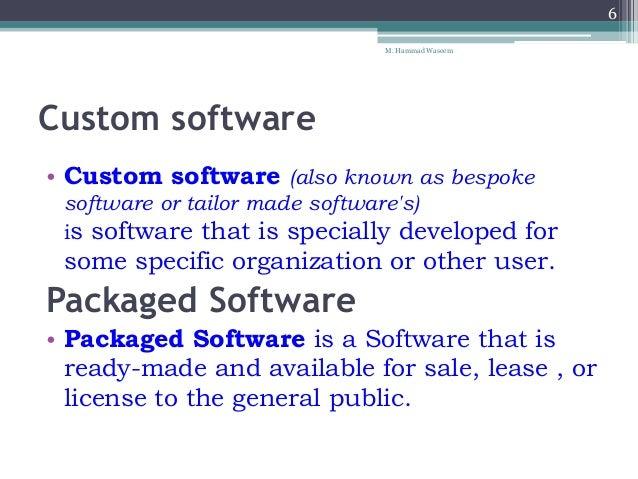 types of custom written software