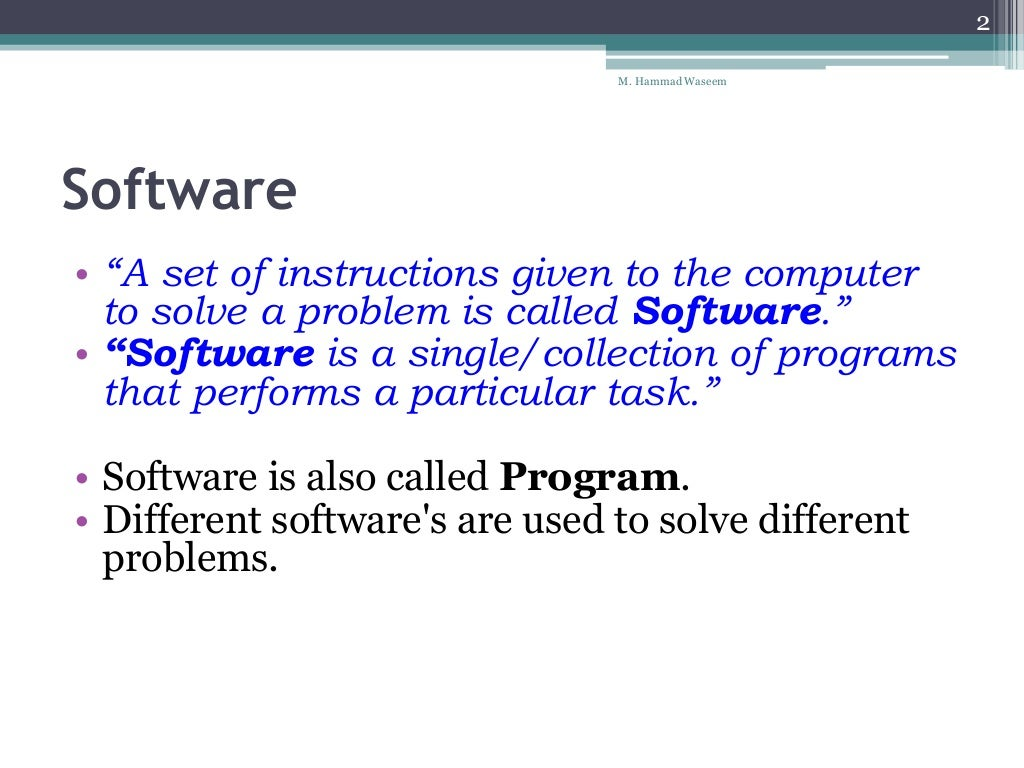an explanation of the types of application software with examples