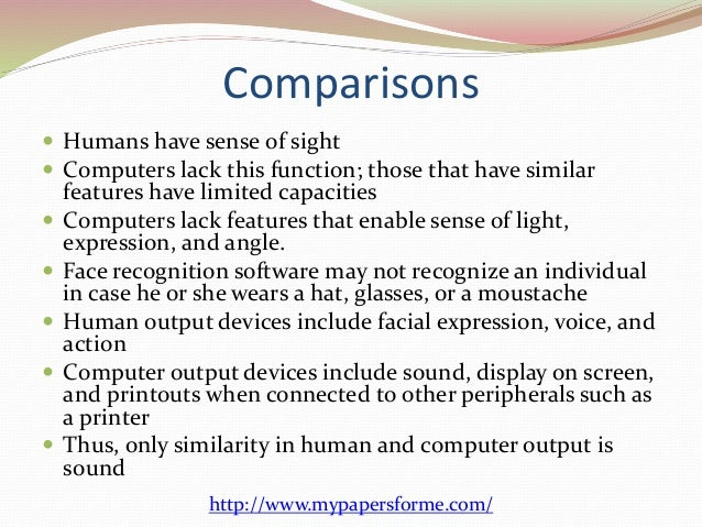 difference between computer and human brain pdf