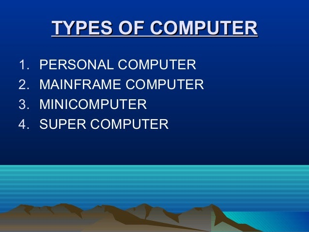 basics of computer system ppt