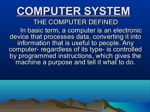 computer definition in english pdf