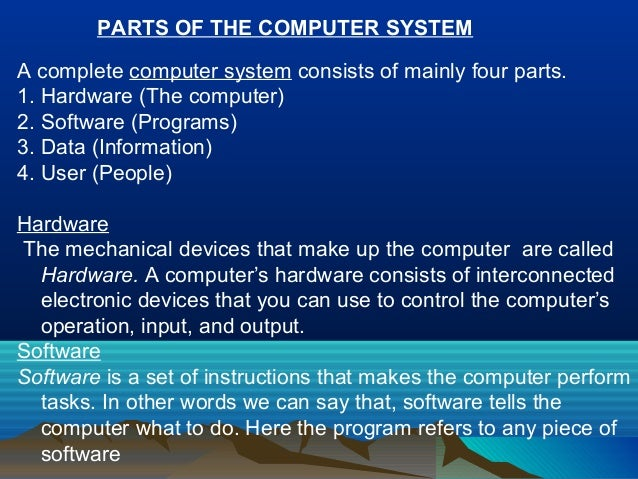 the basic components and types of computer systems essay Computer network definition - a computer network is a group of computer systems and other computing hardware devices that are linked together through.