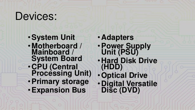 computer system  devices and peripherals