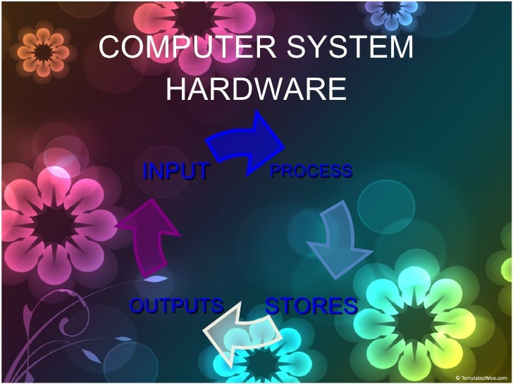 COMPUTER SYSTEM HARDWARE PROCESS OUTPUTS INPUT STORES