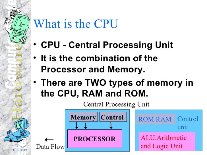 What is the CPU <ul><li>CPU - Central Processing Unit </li></ul><ul><li>It is the combination of the Processor and Memory....