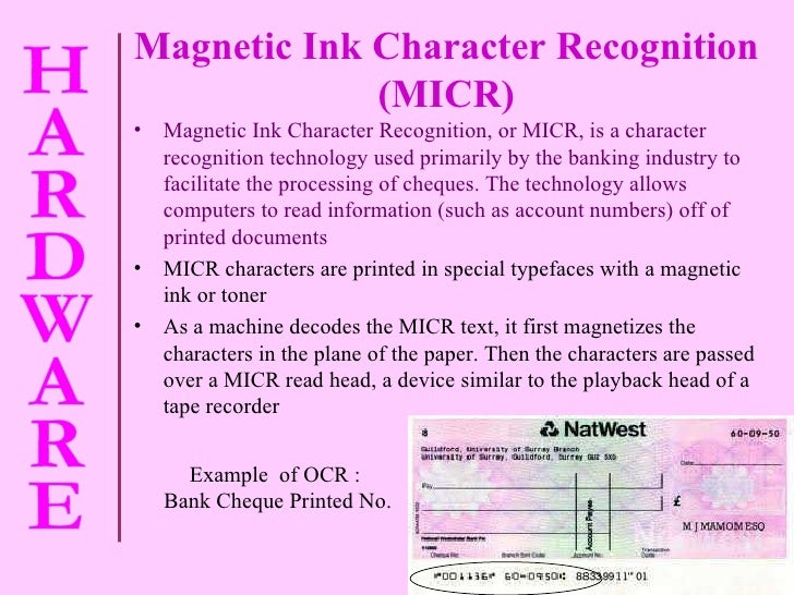 magnetic ink character recognition teach ict