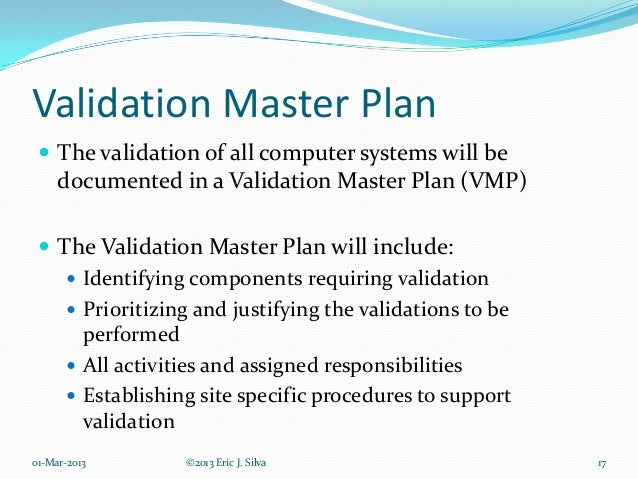 Computer system validation for Software validation plan template