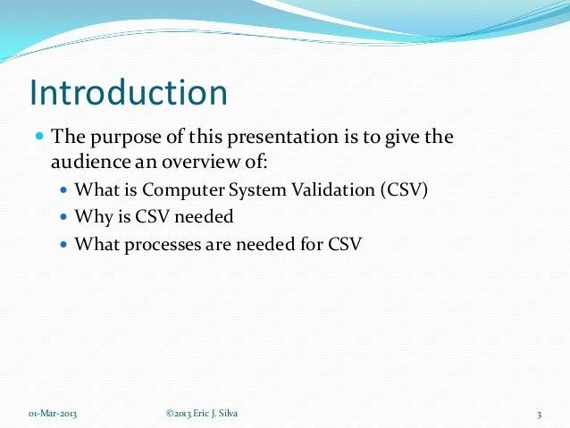 Computer System Validation Slide 3
