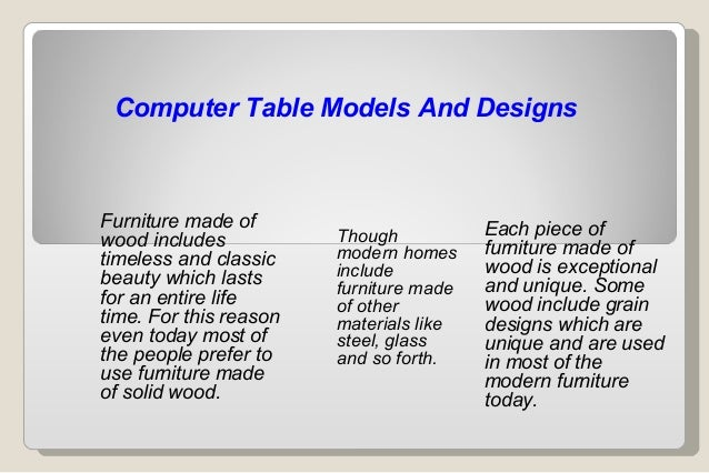 Computer Table Models And DesignsFurniture Made Of Each Piece Ofwood ...