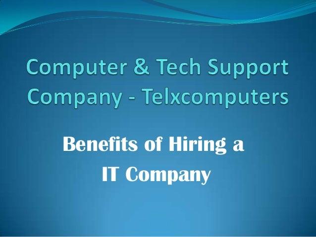 Benefits of Hiring a IT Company