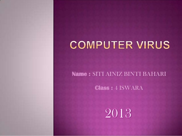 PPT Computer Virus PowerPoint presentation