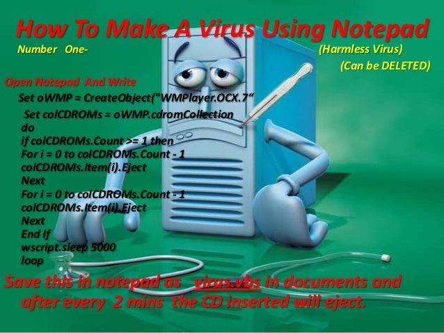 how to create a virus