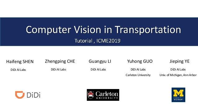 Haifeng SHEN DiDi AI Labs Zhengping CHE DiDi AI Labs Guangyu LI DiDi AI Labs Yuhong GUO DiDi AI Labs Carleton University J...