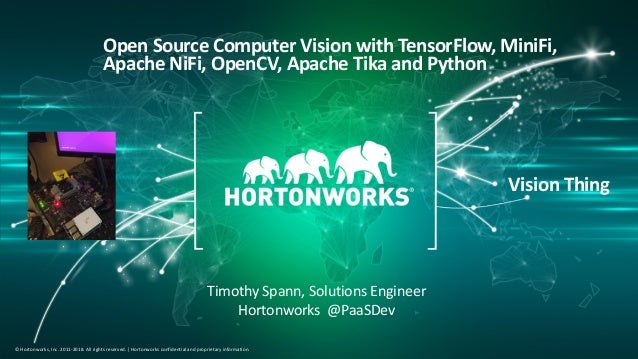 Open Computer Vision with OpenCV, Apache NiFi, TensorFlow
