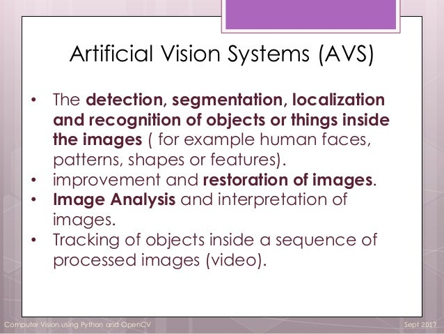 Computer vision and Open CV