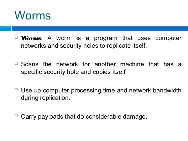 A description of the caused unaccountable amount of damage by computer virus